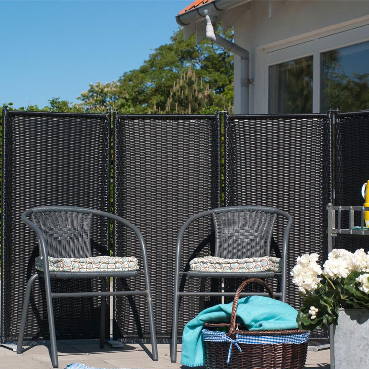 Full Size of Paravent Trend 4 Teilig Garten Wohnzimmer Paravent Terrasse
