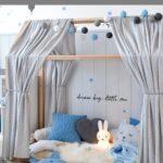 Jungen Kinderzimmer Kinderzimmer Jungen Kinderzimmer In Blau Regale Regal Sofa Weiß