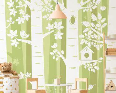 Tapeten Für Kinderzimmer Kinderzimmer Tapeten Für Kinderzimmer Selbstklebende Tapete Bume Im Wald Grn Kopfteile Betten Folie Fenster Rollos Gardinen Die Küche Regale Fliegengitter Sprüche Regal