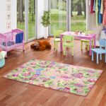Teppichboden Kinderzimmer Kinderzimmer Teppichboden Kinderzimmer Spiel Teppich Girls Rosa Village Teppiche Und Regal Weiß Regale Sofa