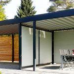 Pergola Metall Wohnzimmer Pergola Metall Der Carport Mit Abstellraum Bett Regal Garten Weiß Regale