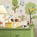 Wandbild Kinderzimmer Kinderzimmer Wandbild Kinderzimmer Wandsticker Waldtiere Wandtattoo Sofa Wandbilder Wohnzimmer Schlafzimmer Regal Weiß Regale