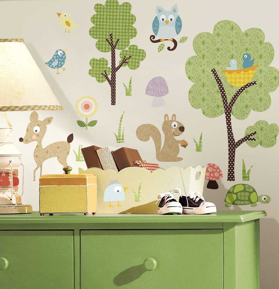 Full Size of Wandbild Kinderzimmer Wandsticker Waldtiere Wandtattoo Sofa Wandbilder Wohnzimmer Schlafzimmer Regal Weiß Regale Kinderzimmer Wandbild Kinderzimmer