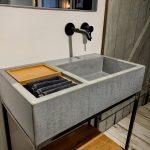 Outdoor Waschbecken Wohnzimmer Outdoor Waschbecken Beton S Auf Stahluntergestell Bk Design Küche Kaufen Edelstahl Keramik Badezimmer Bad