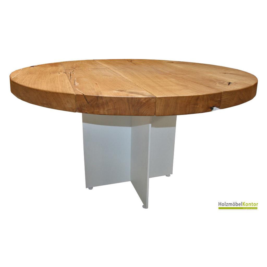 Full Size of Runder Tisch Massivholz Eiche 130cm Holzmoebelkontorde Schlafzimmer Regal Weißer Esstisch Mit 4 Stühlen Günstig Rustikal Holz Deckenlampe Ausziehbar Weiß Esstische Esstisch Rustikal Holz
