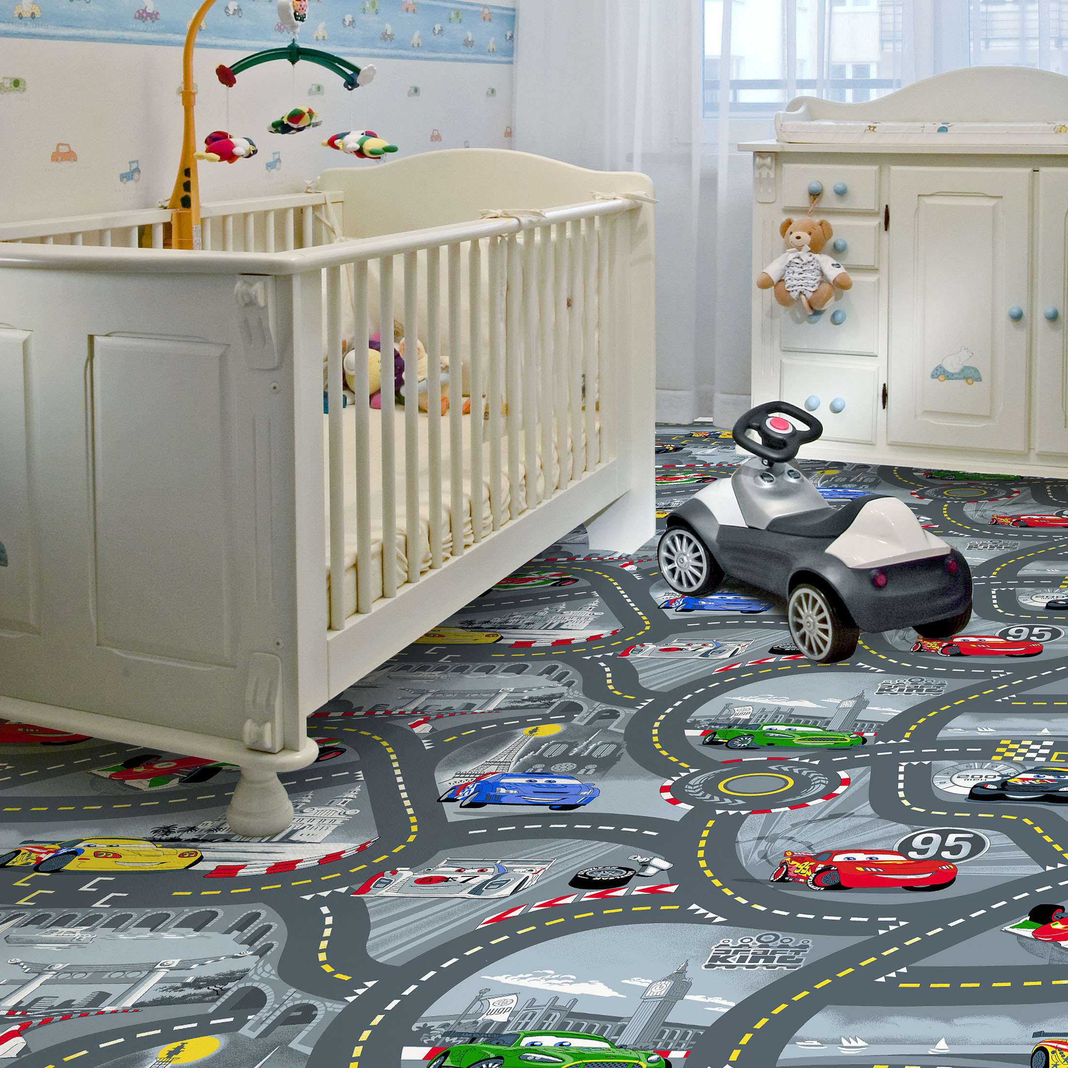Full Size of Teppichboden Kinderzimmer Cars 2 Von Kibek In Grau Regale Regal Weiß Sofa Kinderzimmer Teppichboden Kinderzimmer