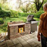 Outdoor Küche Selber Bauen Grillen Und Kochen Im Freien Hornbach L Mit Elektrogeräten U Form Nolte Ausstellungsstück Raffrollo Tapete Modern Betonoptik Wohnzimmer Outdoor Küche Selber Bauen