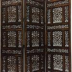 Paravent Terrasse Raumtrenner Als Trennwand Indischer Braun In 180cm 150 Abhinava Garten Wohnzimmer Paravent Terrasse