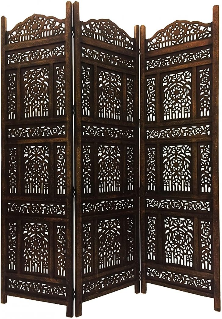 Medium Size of Paravent Terrasse Raumtrenner Als Trennwand Indischer Braun In 180cm 150 Abhinava Garten Wohnzimmer Paravent Terrasse