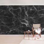 Küchentapete Wohnzimmer Küchentapete Marmor Tapete Nero Carrara Vlies Wandtapete Breit