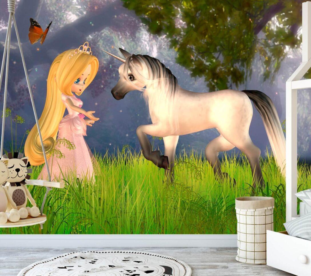 Large Size of Vlies Tapete Poster Fototapete Kinderzimmer Prinzessin Einhorn Regal Sofa Fototapeten Wohnzimmer Regale Weiß Kinderzimmer Fototapeten Kinderzimmer