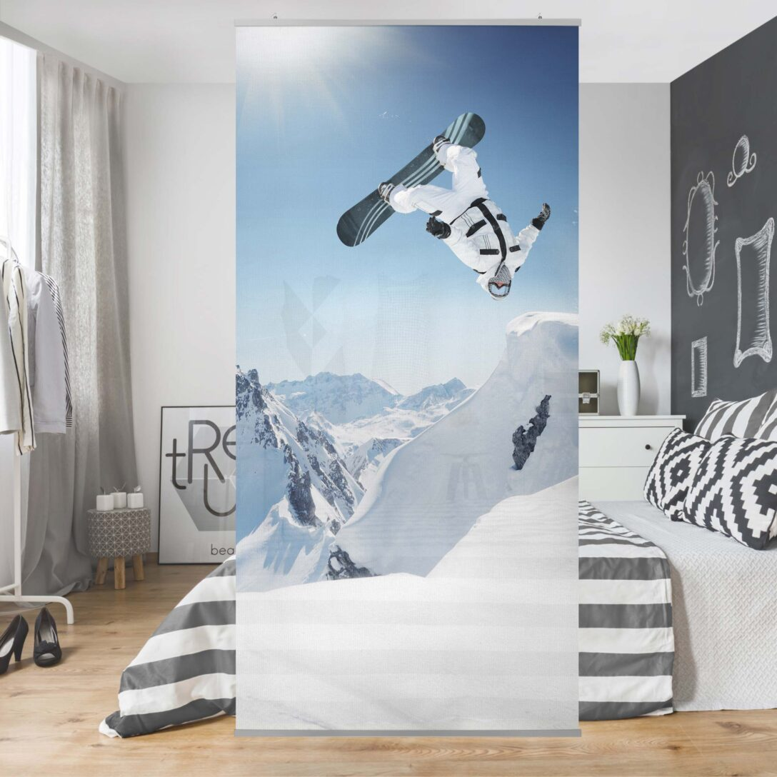 Large Size of Raumteiler Kinderzimmer Fliegender Snowboarder 250x120cm Sofa Regal Regale Weiß Kinderzimmer Raumteiler Kinderzimmer