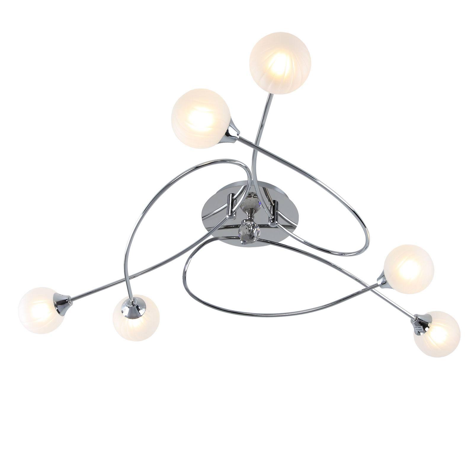 Full Size of Deckenleuchte Wohnzimmer 6 Flammig Glas Chrom Lampe Dimmbar 230v Lampen Küche Esstisch Moderne Deckenlampe Bad Hängeschrank Weiß Hochglanz Hängelampe Decke Wohnzimmer Wohnzimmer Lampe