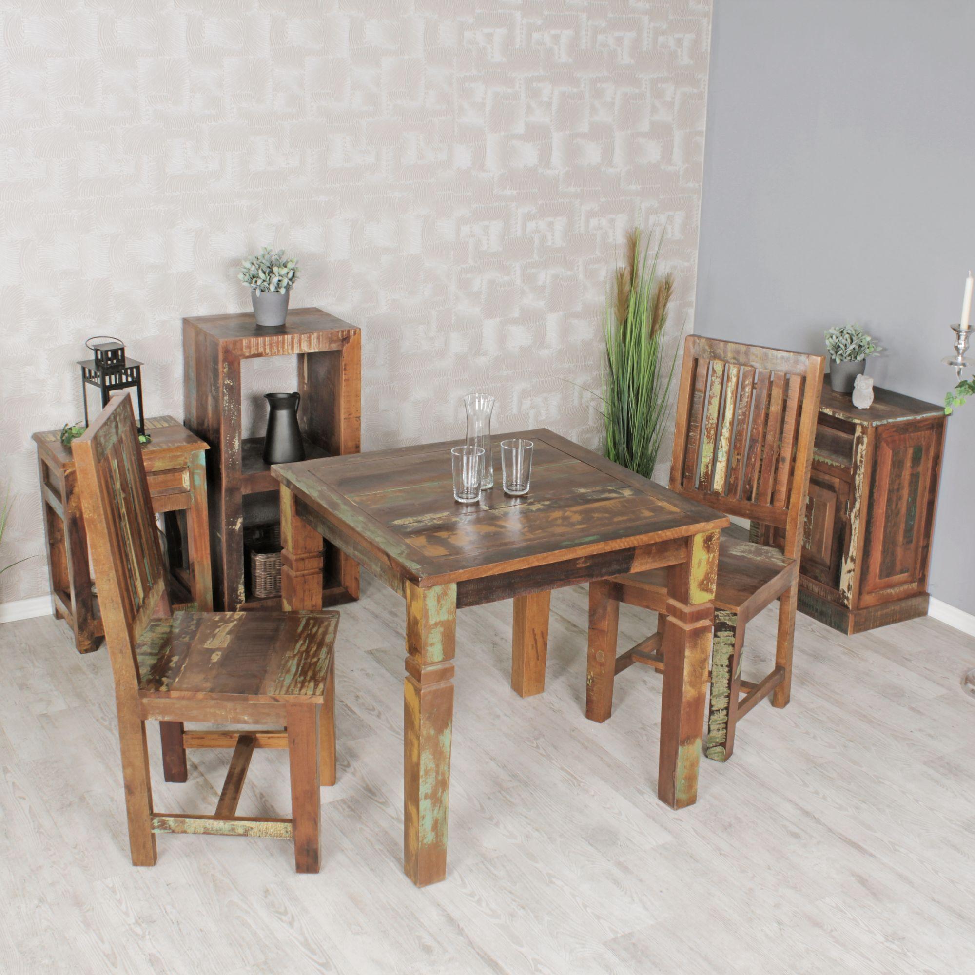 Full Size of Esstisch Shabby Finebuy 80 80cm Esszimmertisch Tisch Bootsholz Designer Lampen Runde Esstische Stühle Sofa Für Modern 2m Betonplatte Massiver Weiß Esstische Esstisch Shabby