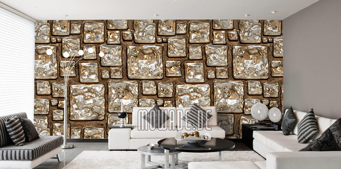 Large Size of Tapeten Gold Design Von Mowade Wohnzimmer Deckenleuchten Led Lampen Für Küche Deko Beleuchtung Die Deckenleuchte Teppiche Poster Landhausstil Schrankwand Wohnzimmer Wohnzimmer Tapeten
