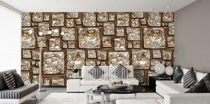 Medium Size of Tapeten Gold Design Von Mowade Wohnzimmer Deckenleuchten Led Lampen Für Küche Deko Beleuchtung Die Deckenleuchte Teppiche Poster Landhausstil Schrankwand Wohnzimmer Wohnzimmer Tapeten