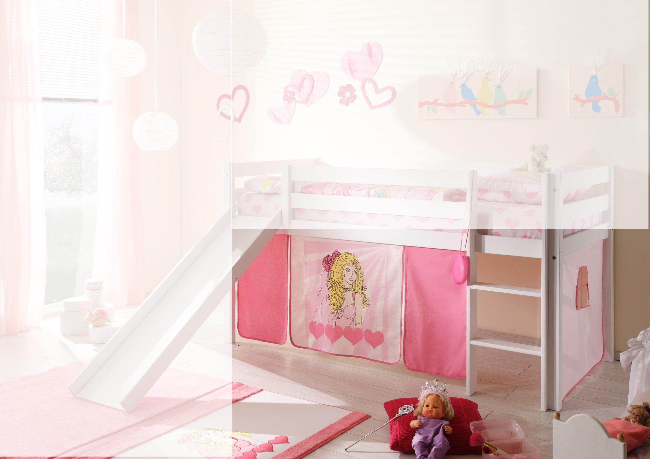Full Size of Vorhänge Für Kinderzimmer Vorhang Mdchen Prinzessin 4 Tlg 100 Baumwolle Spiel Hochbett Bilder Fürs Wohnzimmer Sofa Wasserhahn Küche Esszimmer Kinderzimmer Vorhänge Für Kinderzimmer