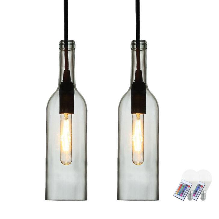 Medium Size of Hängelampen 2er Set Rgb Led Flaschen Hngelampen Aus Klarem Glas Vt 7558 Etc Wohnzimmer Hängelampen