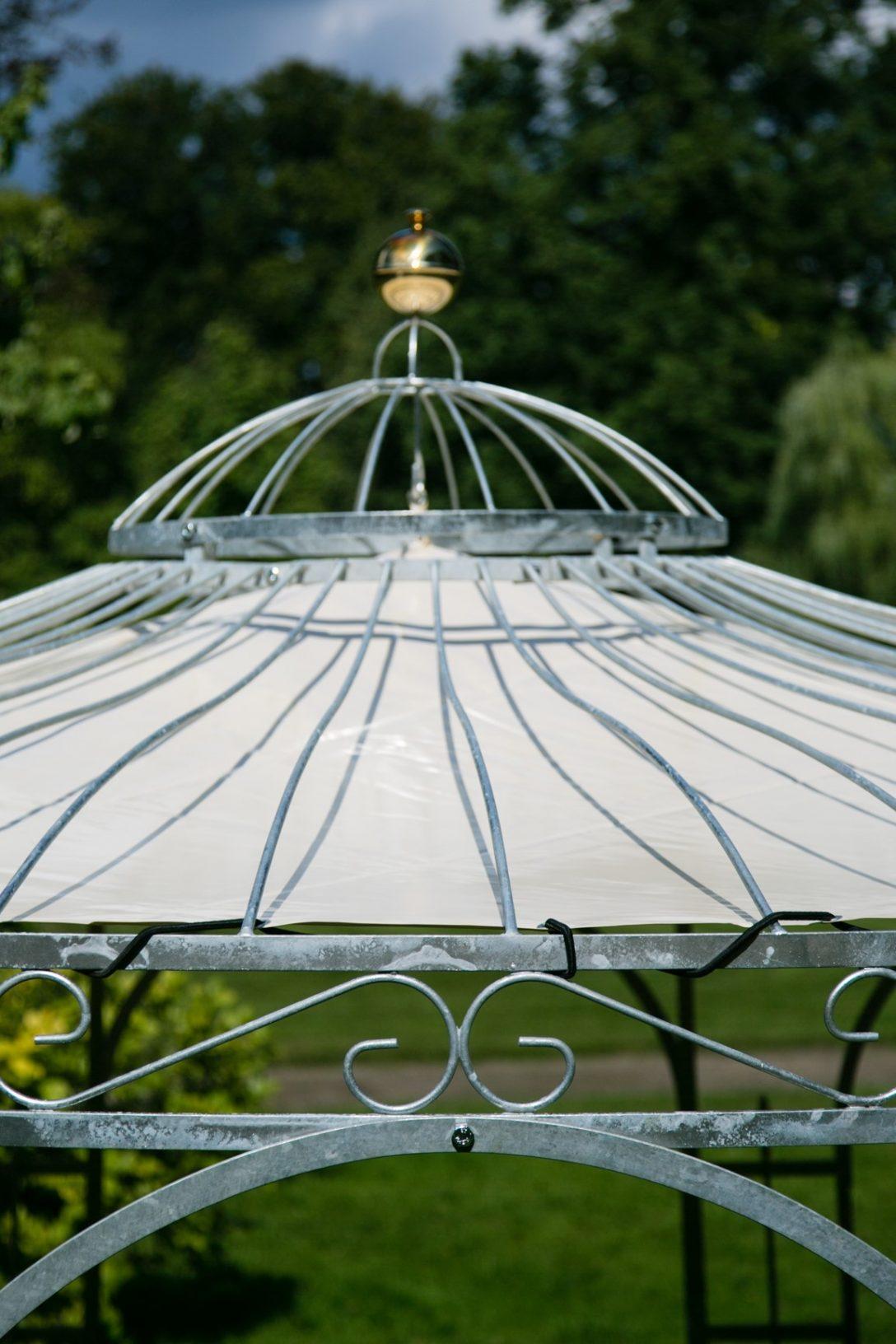 Large Size of Sonnenschutz Fr Gartenpavillon Metall Eleganz 350cm Regal Regale Bett Weiß Wohnzimmer Gartenpavillon Metall