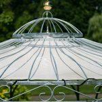 Sonnenschutz Fr Gartenpavillon Metall Eleganz 350cm Regal Regale Bett Weiß Wohnzimmer Gartenpavillon Metall