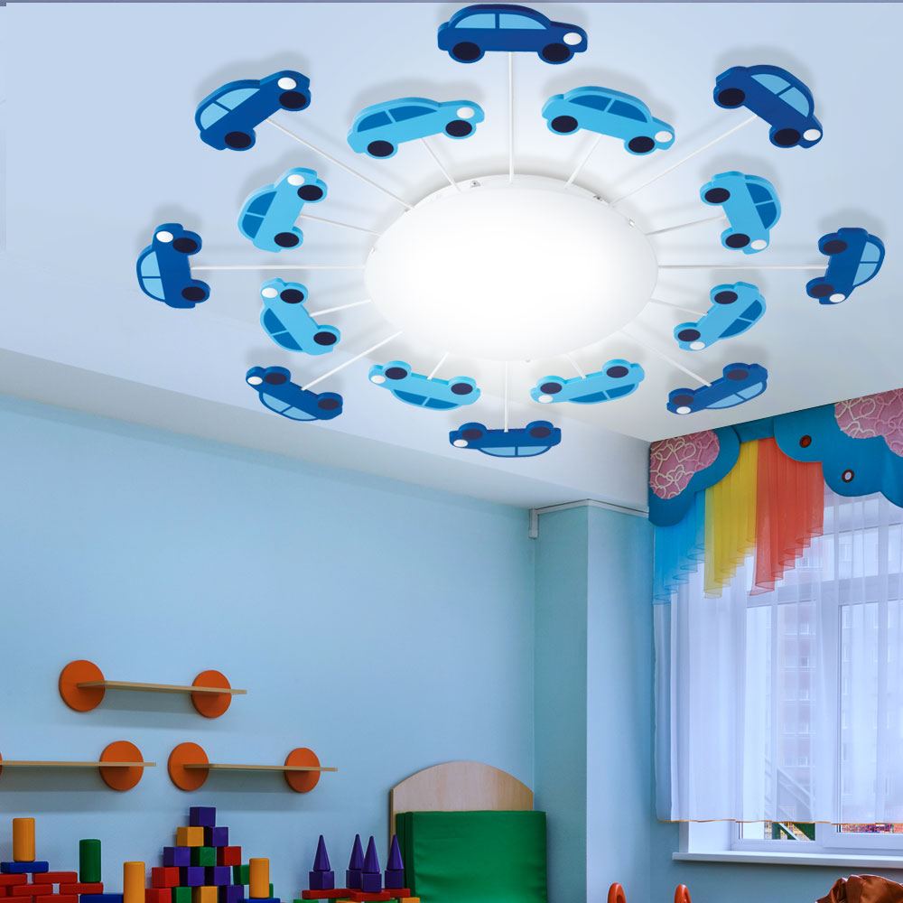 Full Size of Deckenlampen Kinderzimmer Rgb Led Deckenlampe Mit Blauen Autos Fr Dalia Meinelampe Regale Für Wohnzimmer Sofa Regal Weiß Modern Kinderzimmer Deckenlampen Kinderzimmer