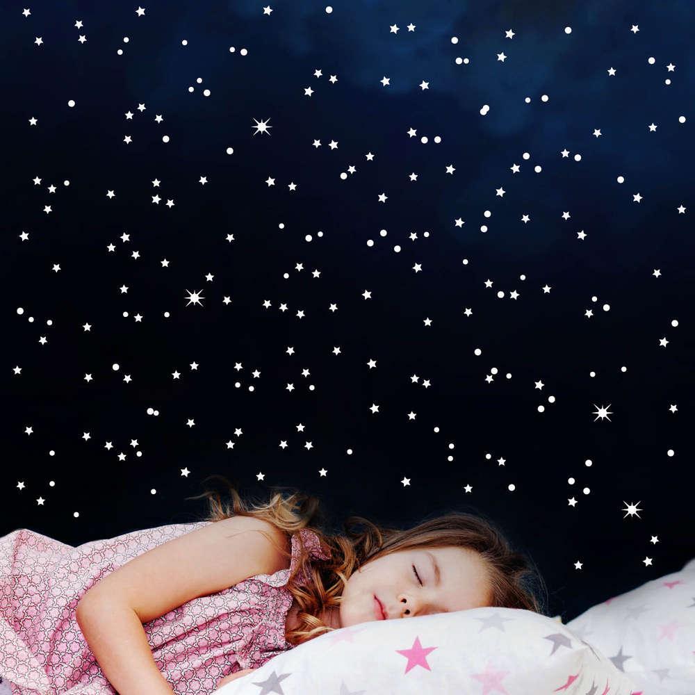 Full Size of 60 Stck Leuchtsterne Inkl Decoratie Voor Kinderen Mond Kinderzimmer Regal Regale Sofa Weiß Kinderzimmer Sternenhimmel Kinderzimmer