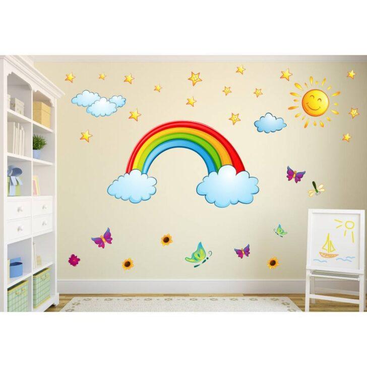 Medium Size of Wandtatoo Kinderzimmer 006 Wandtattoo Regenbogen Sonne Wolken Sofa Regale Regal Weiß Küche Kinderzimmer Wandtatoo Kinderzimmer