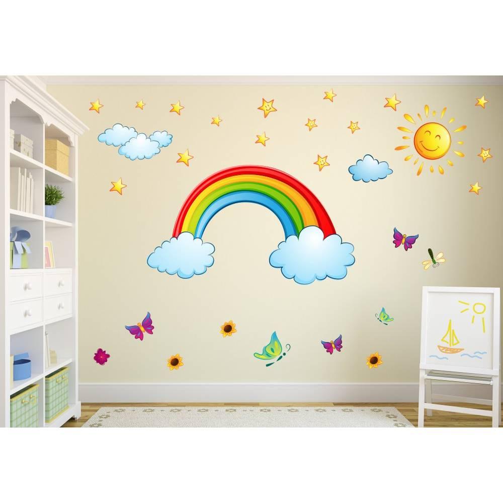 Full Size of Wandtatoo Kinderzimmer 006 Wandtattoo Regenbogen Sonne Wolken Sofa Regale Regal Weiß Küche Kinderzimmer Wandtatoo Kinderzimmer