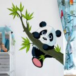 Wandtatoo Kinderzimmer Kinderzimmer Wandtatoo Kinderzimmer Bilderwelten Wandtattoo Kletternder Panda Online Küche Regal Regale Weiß Sofa