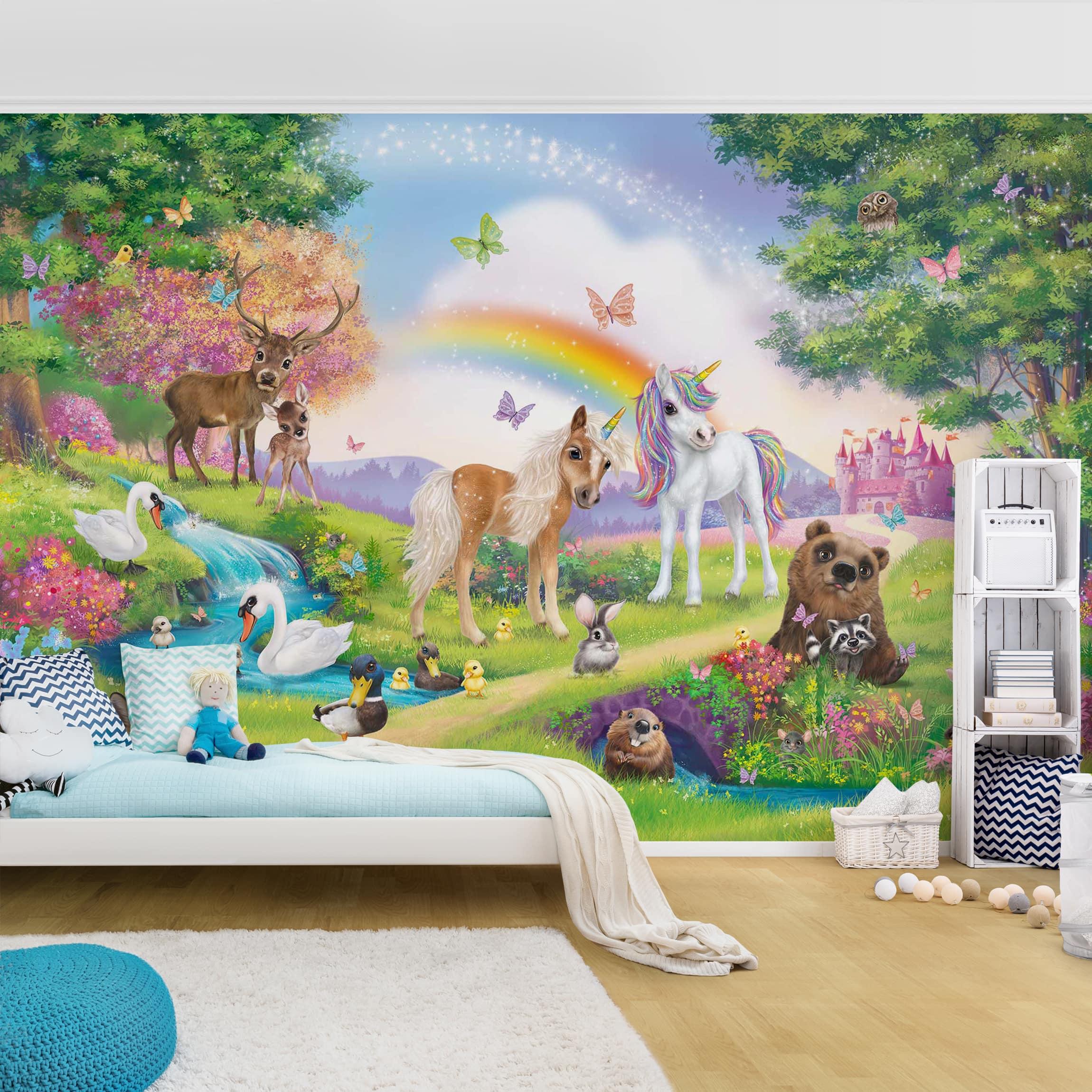 Full Size of Wandbild Kinderzimmer Tapete Selbstklebend Animal Club International Wandbilder Schlafzimmer Regal Weiß Wohnzimmer Regale Sofa Kinderzimmer Wandbild Kinderzimmer