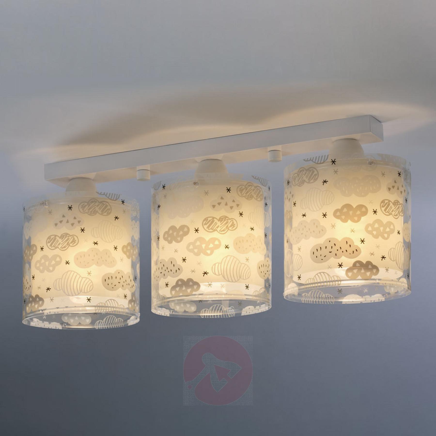 Full Size of Deckenlampe Clouds Fr Kinderzimmer 3 Flammig Grau Kaufen Deckenlampen Für Wohnzimmer Modern Regal Sofa Weiß Regale Kinderzimmer Deckenlampen Kinderzimmer