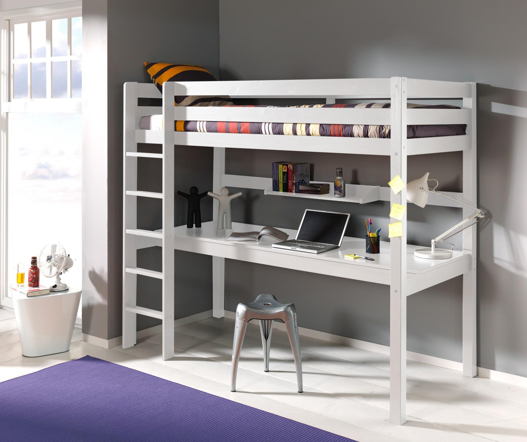 Full Size of Kinderbett Pino Hochbett 90 200 Cm Mit Schreibtisch Regal Kinderzimmer Sofa Weiß Regale Kinderzimmer Kinderzimmer Hochbett