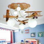 Deckenleuchten Kinderzimmer Kinderzimmer Cartoon Holz Flugzeug Kreative Regale Wohnzimmer Regal Bad Sofa Schlafzimmer Küche Weiß