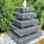 Gartenbrunnen Solar Wohnzimmer Gartenbrunnen Solar Wasserspiel Set Quellstein Pyramide 80cm Granit Inkl