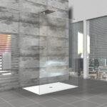 Glastrennwand Dusche Bodengleiche Einbauen Ebenerdig 80x80 Bodengleich Antirutschmatte Fliesen Begehbare Grohe Thermostat Eckeinstieg Walk In Unterputz Armatur Dusche Glastrennwand Dusche