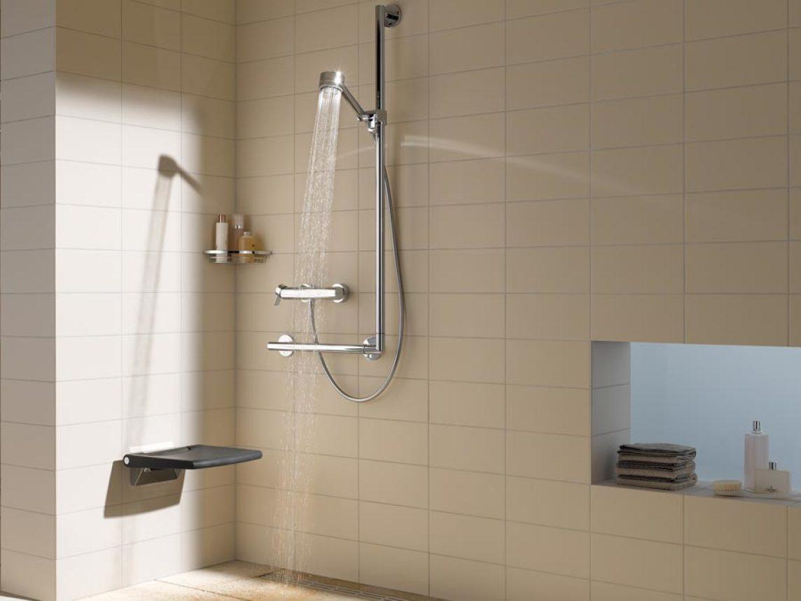 Full Size of Behindertengerechte Dusche Keuco Mbliert Stilvoll Sowie Din Und Behindertengerecht Unterputz Einhebelmischer Glastür Siphon Bodengleiche Nachträglich Dusche Behindertengerechte Dusche