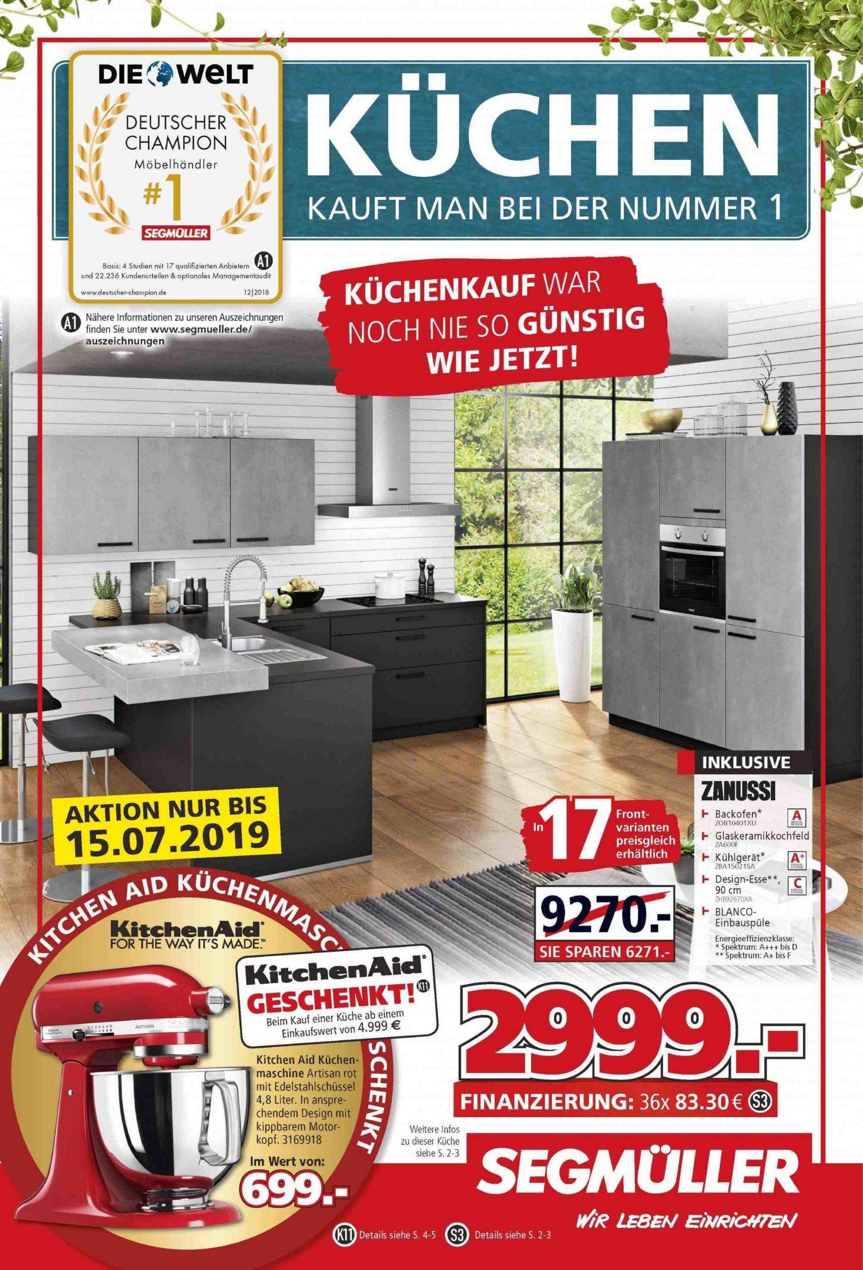 Full Size of Segmller Aktuelles Prospekt 272019 382019 Rabatt Kompassde Küchen Regal Segmüller Küche Wohnzimmer Segmüller Küchen