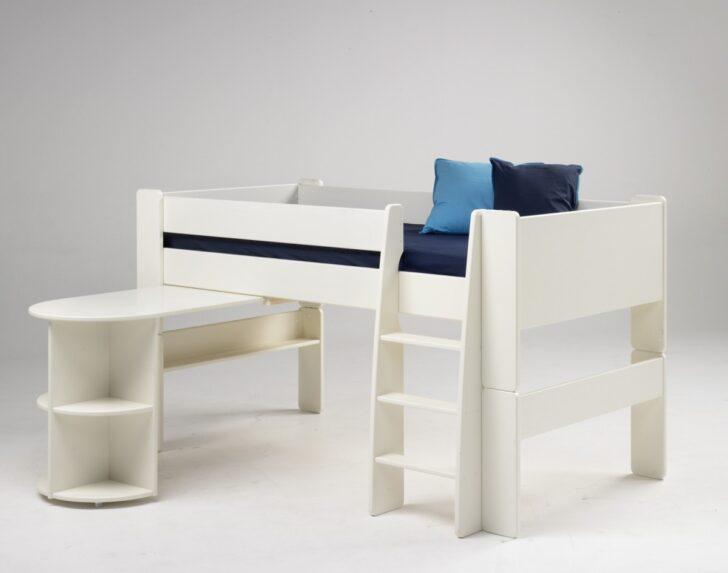 Medium Size of Hochbetten Kinderzimmer Halbhohes Bett Kinderbett Anbauschreibtisch Mdf Wei Hochbett Regal Sofa Regale Weiß Kinderzimmer Hochbetten Kinderzimmer