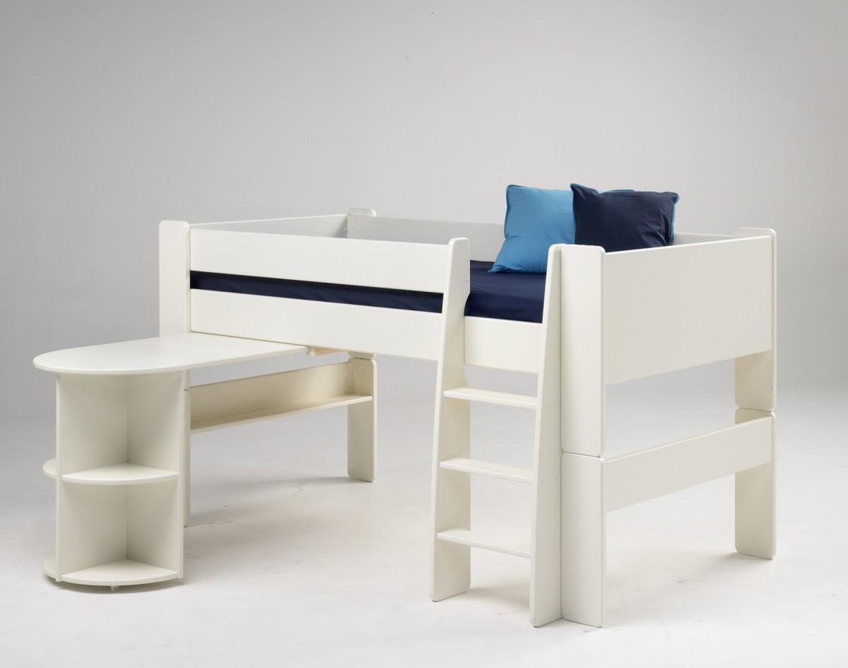 Full Size of Hochbetten Kinderzimmer Halbhohes Bett Kinderbett Anbauschreibtisch Mdf Wei Hochbett Regal Sofa Regale Weiß Kinderzimmer Hochbetten Kinderzimmer