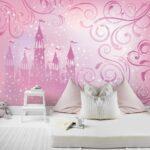 Kinderzimmer Prinzessin Kinderzimmer Kinderzimmer Prinzessin Fototapete Schloss Wanddeko Real Regal Weiß Bett Regale Sofa Prinzessinen