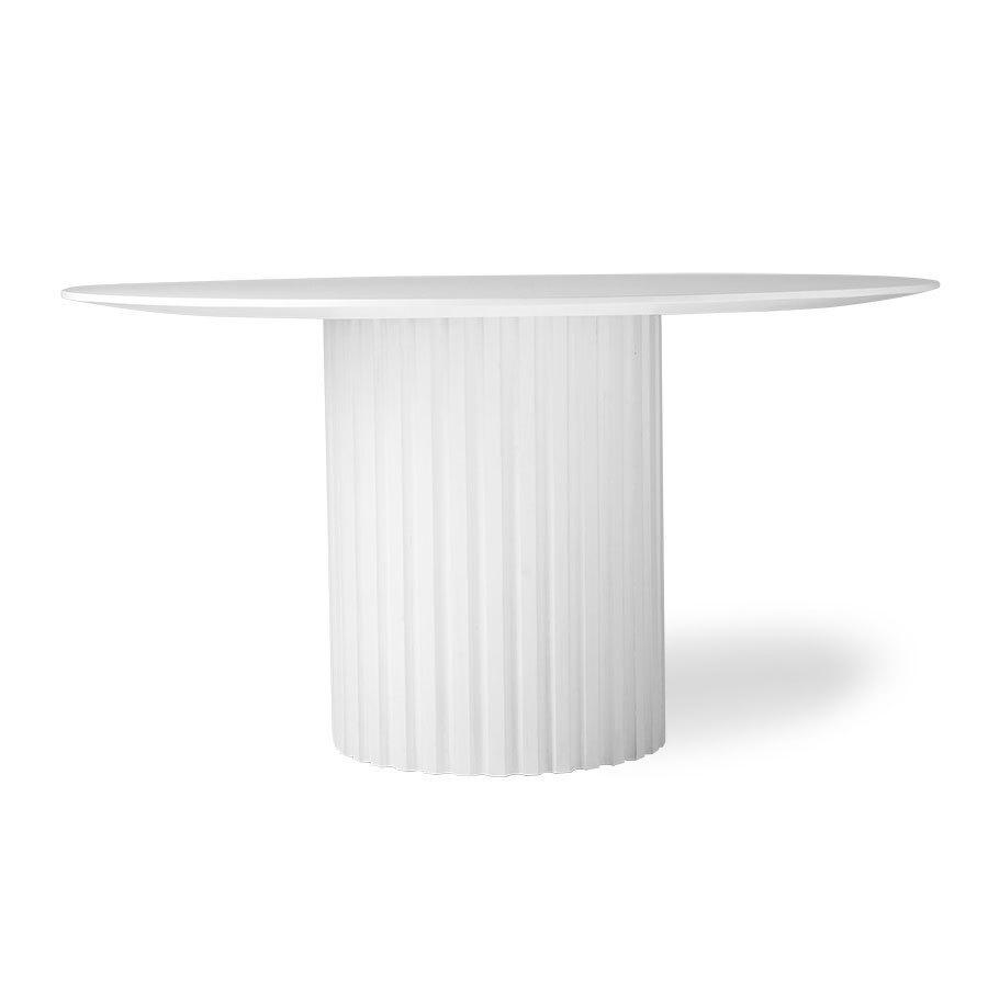 Full Size of Esstisch Oval Weiß Hk Living Pillar Dining Round Mit Sule Kaufen Buerado Kleiner Sofa 120x80 Bad Regal Baumkante Rund Ausziehbar Kommode Hochglanz Bett Esstische Esstisch Oval Weiß