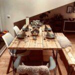 Esstisch Tisch Industrial Bauholz Modern Altholz Holz Rustikal In Rustikaler Günstig Designer Bogenlampe Holzplatte Landhaus Moderne Esstische Mit Stühlen Esstische Altholz Esstisch