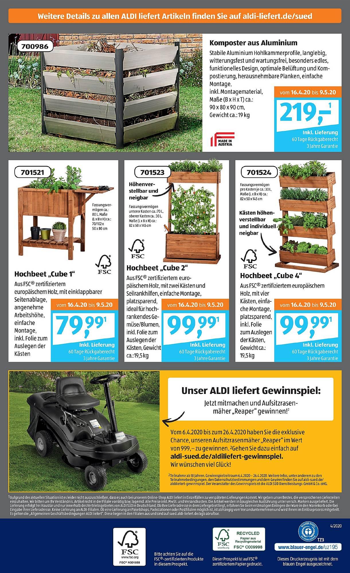 Full Size of Hochbeet Sd Prospekt Angebote Ab 14042020 Bis 18042020 Seite Relaxsessel Garten Wohnzimmer Hochbeet Aldi