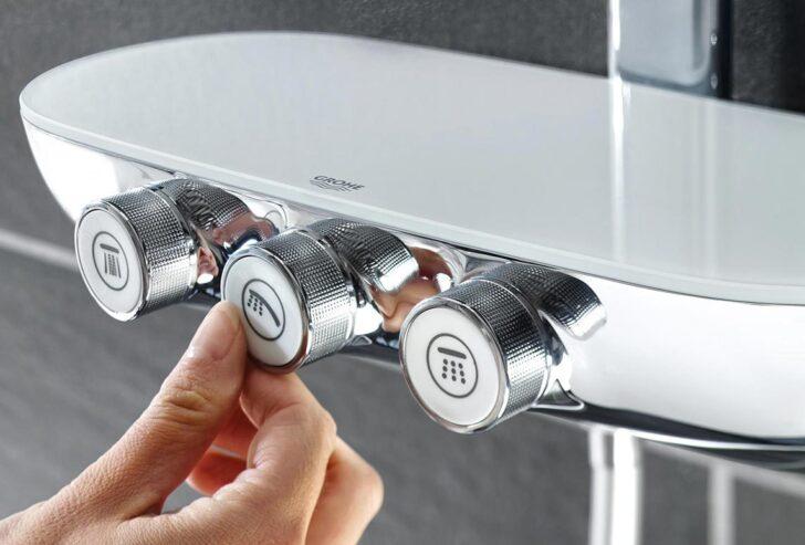 Medium Size of Grohe Thermostat Dusche Drcken 80x80 Nischentür Schiebetür Barrierefreie Schulte Duschen Abfluss Begehbare Fliesen Behindertengerechte Glastür Für Dusche Grohe Thermostat Dusche