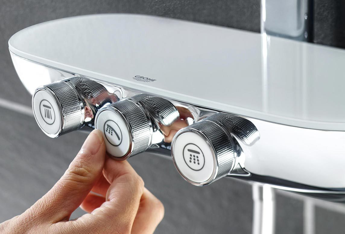 Full Size of Grohe Thermostat Dusche Drcken 80x80 Nischentür Schiebetür Barrierefreie Schulte Duschen Abfluss Begehbare Fliesen Behindertengerechte Glastür Für Dusche Grohe Thermostat Dusche