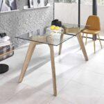 Glas Esstisch Esstische Esstisch Luyasa Aus Glas 160 Cm Breit Tisch Kaufende 80x80 Oval Esstische Massivholz Betonplatte Grau Antik Holz Massiv Glaswand Küche Design Wandpaneel