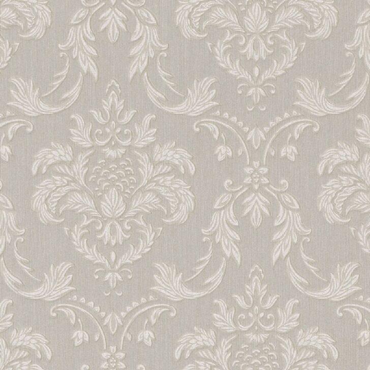 Medium Size of Casa Padrino Barock Textiltapete Grau Wei Beige 10 Led Beleuchtung Wohnzimmer Pendelleuchte Wandtattoo Hängeschrank Weiß Hochglanz Tapeten Für Küche Wohnzimmer Wohnzimmer Tapeten