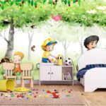 3d Silk Fototapete Wandbild Sofa Regal Schlafzimmer Weiß Regale Wohnzimmer Kinderzimmer Wandbild Kinderzimmer