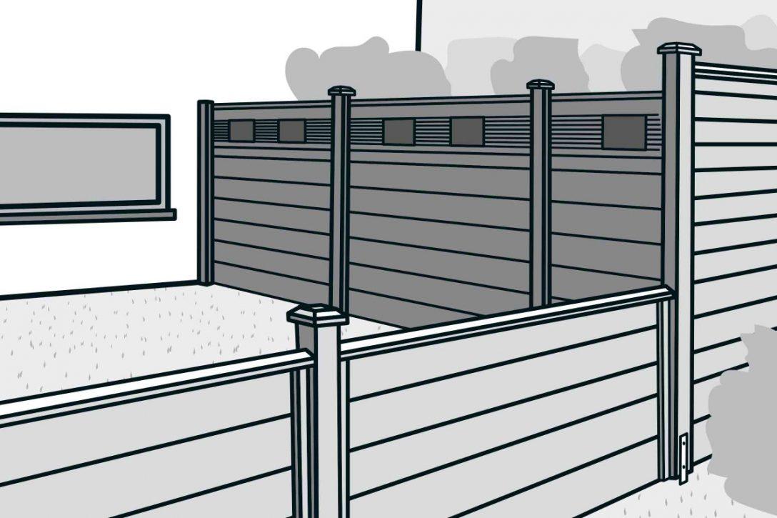 Large Size of Hornbach Sichtschutz Bauen Mit Zaunsystem Anleitung Von Fenster Garten Wpc Sichtschutzfolie Einseitig Durchsichtig Im Sichtschutzfolien Für Holz Wohnzimmer Hornbach Sichtschutz