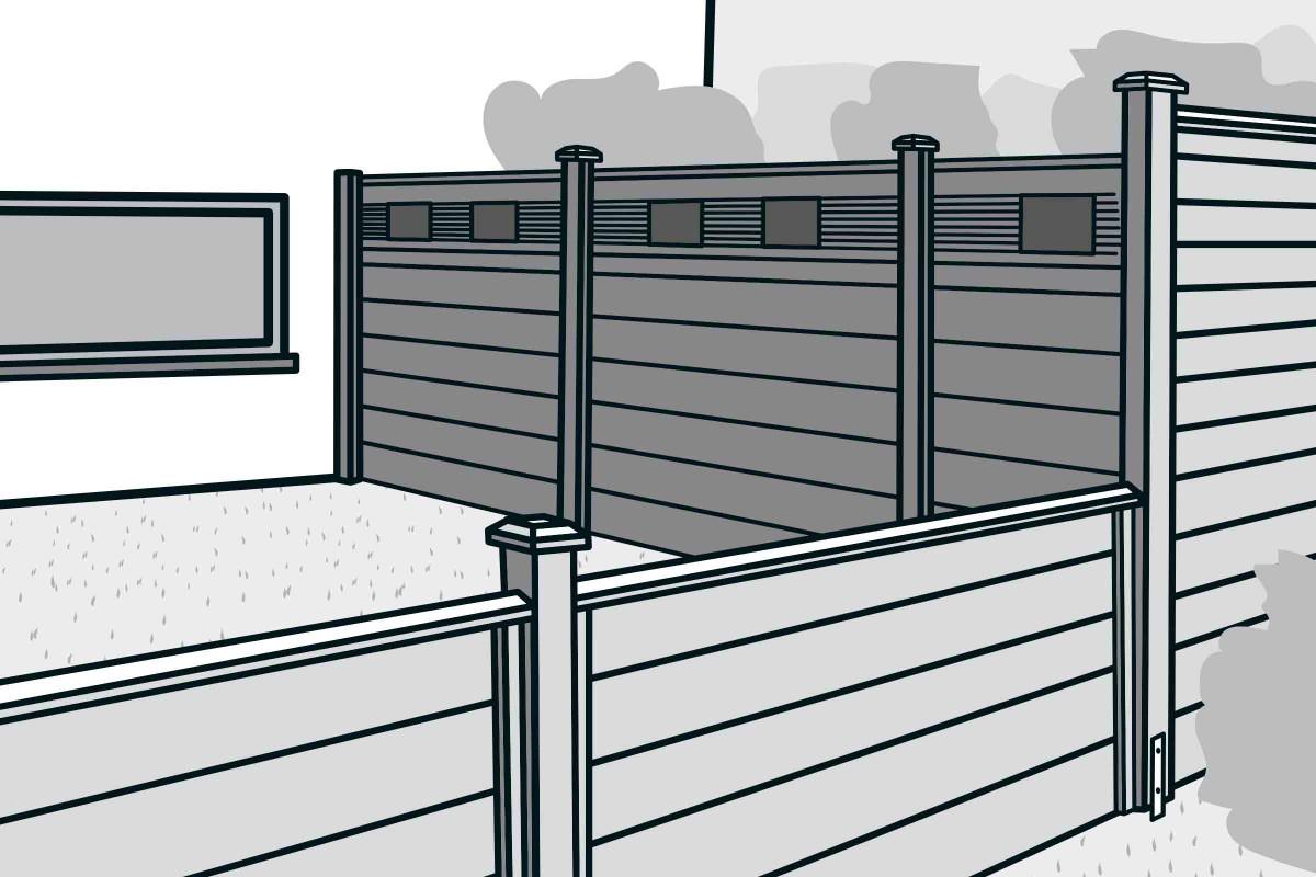 Full Size of Hornbach Sichtschutz Bauen Mit Zaunsystem Anleitung Von Fenster Garten Wpc Sichtschutzfolie Einseitig Durchsichtig Im Sichtschutzfolien Für Holz Wohnzimmer Hornbach Sichtschutz